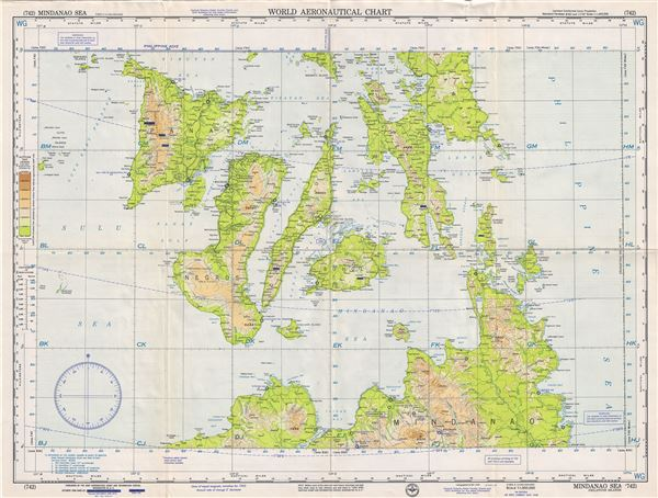 Philippines Islands World Map.Mindanao Sea Philippines Islands Geographicus Rare Antique Maps