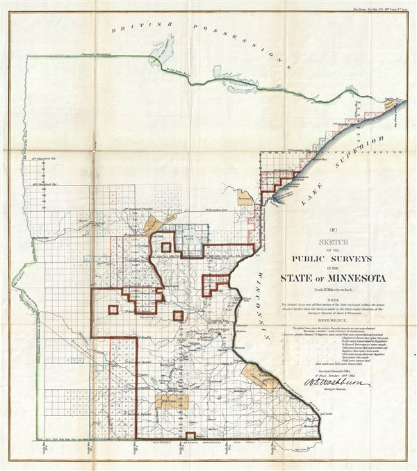 (F) Sketch of the Public Surveys in the State of Minnesota. - Main View