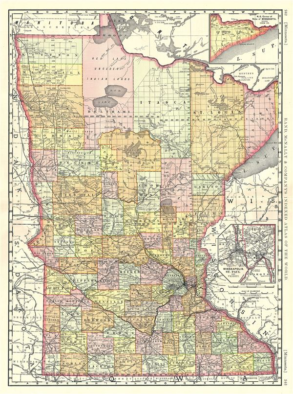 Minnesota Geographicus Rare Antique Maps - Rand mcnally online maps