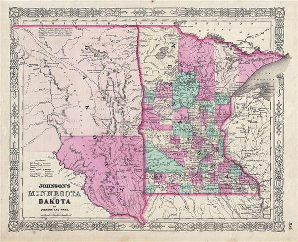Johnson's Minnesota and Dakota. - Main View