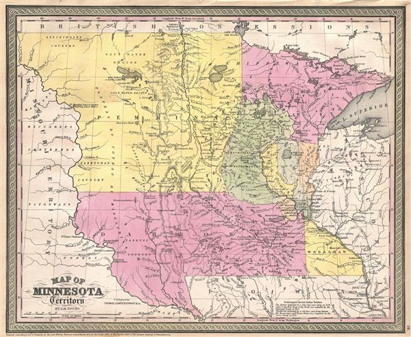 Map of Minnesota Territory.