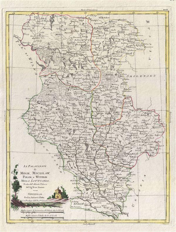 Li Palatinati di Minsk, Mscislaw, Polok, e Witebsk Nella Littuania.