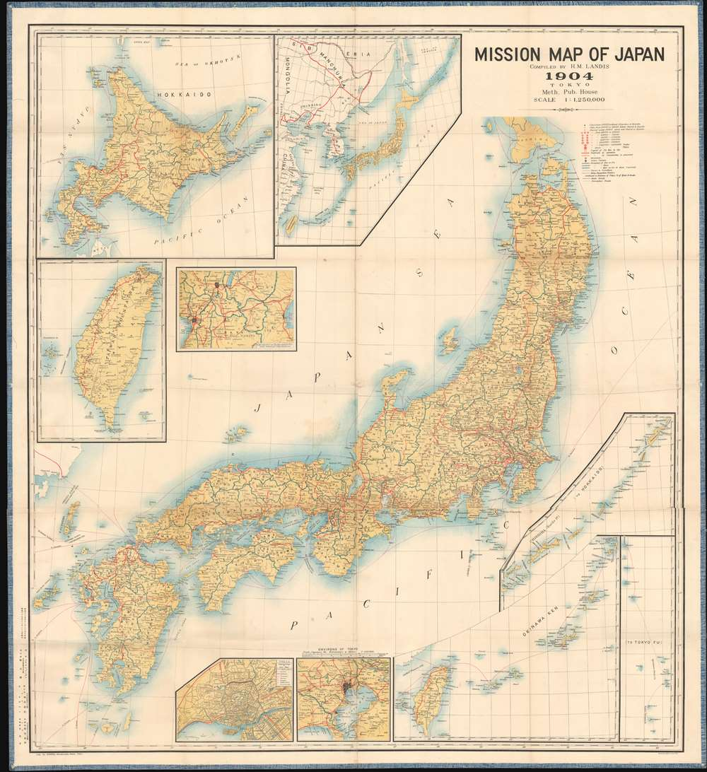 Mission Map of Japan. - Main View
