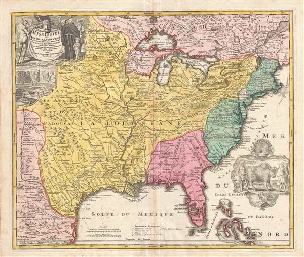 Amplissimae regionis mississipi seu provinciae ludovicianae a rp amplissimae regionis mississipi seu provinciae ludovicianae a rp ludovico hennepin francisc miss in america septentrionali anno gumiabroncs Image collections