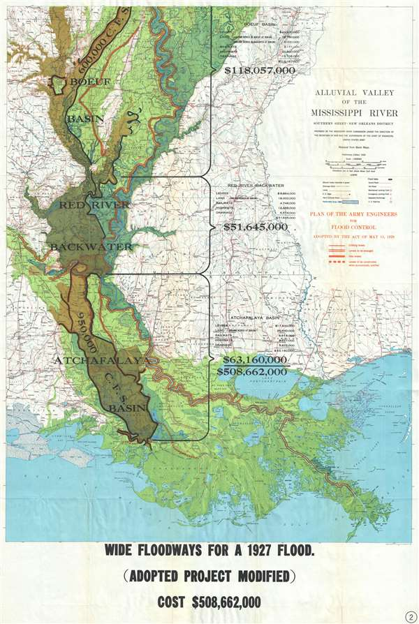 Alluvial Valley of the Mississippi River. Southern Sheet - New Orleans District.