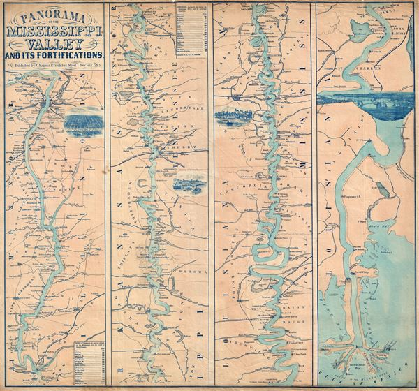 Panorama Of The Mississippi Valley And Its Fortifications. - Main View