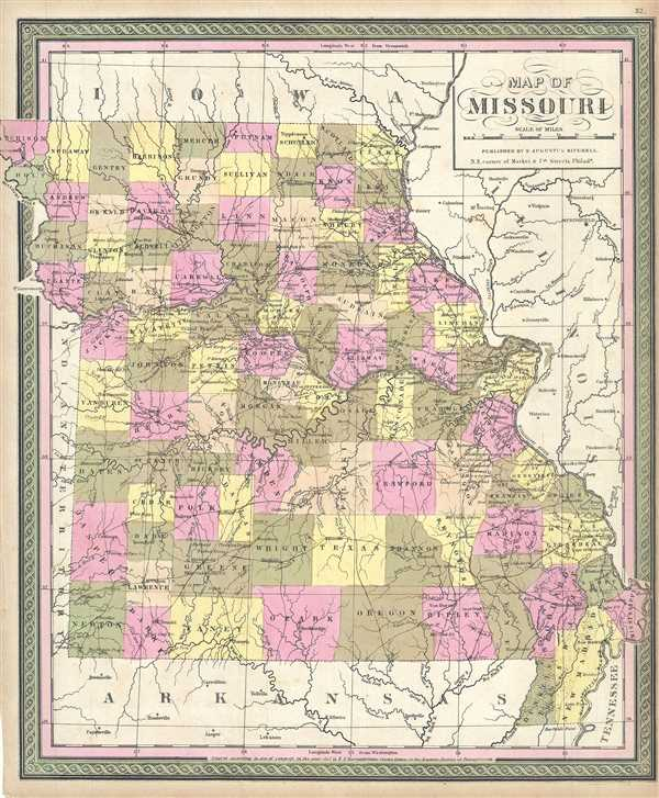 Map of Missouri.
