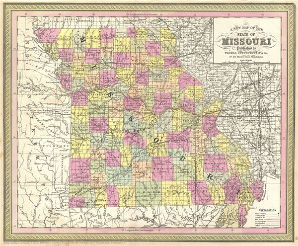 A New Map of the State of Missouri. - Main View