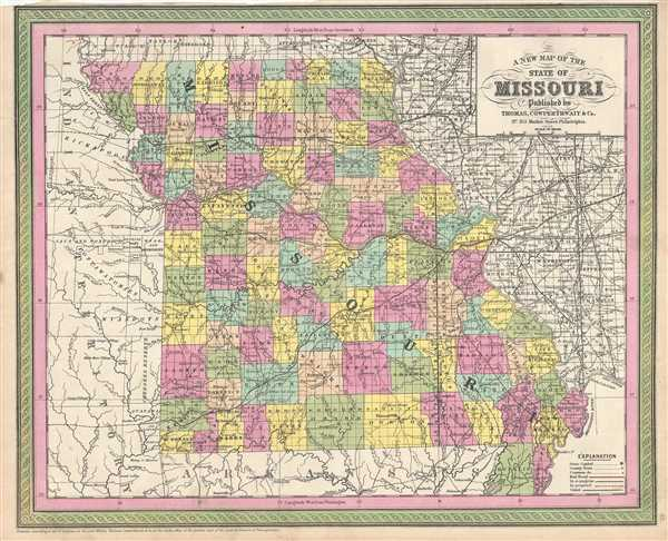 A New Map of the State of Missouri.