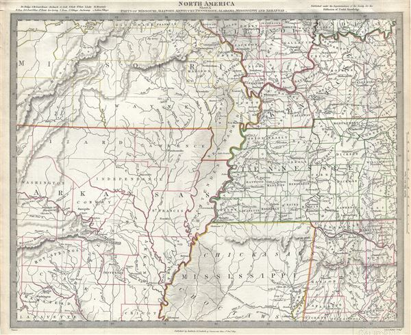 North America Sheet X Parts Of Missouri Illinois