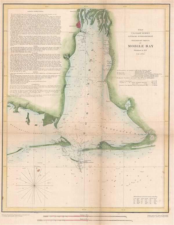 H No. 10 Preliminary Sketch of Mobile Bay. - Main View