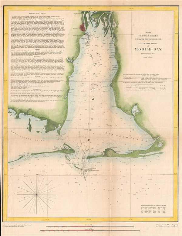 H No. 10 Preliminary Sketch of Mobile Bay.