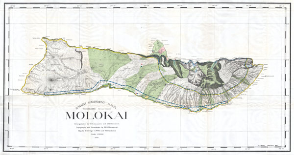 Hawaiian Government Survey.  Molokai. - Main View