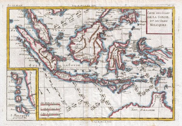 Carte Des-Isles de la Sonde, et des Isles Moluques.
