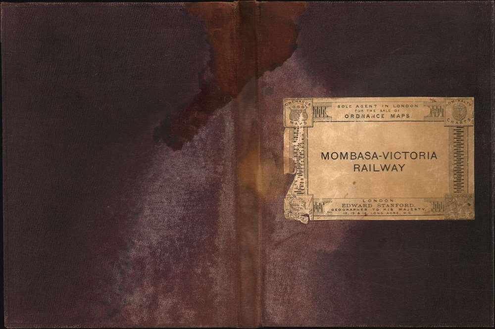 Map Shewing the Mombasa-Victoria (Uganda) Railway. - Alternate View 1