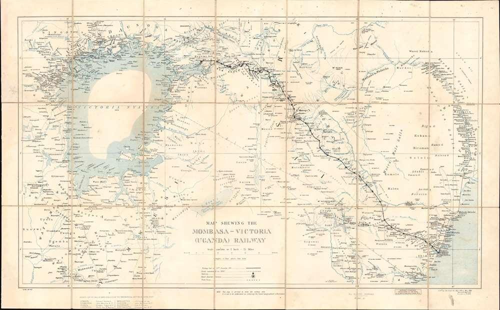 Map Shewing the Mombasa-Victoria (Uganda) Railway. - Main View