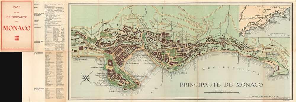 1943 Fissore and Danoy Map of the Principality of Monaco