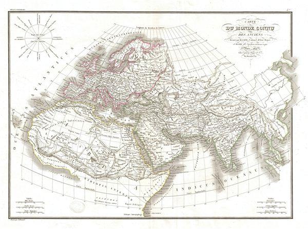 Carte du Monde Connu des Anciens.