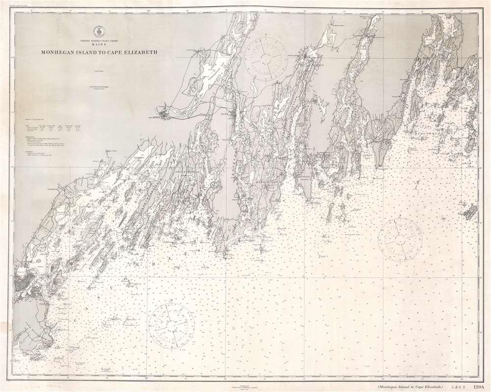 United States - East Coast. Maine. Monhegan Island to Cape Elizabeth. - Main View
