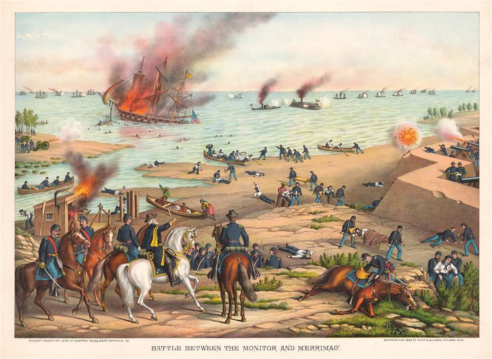 Battle Between the Monitor and Merrimac. - Main View
