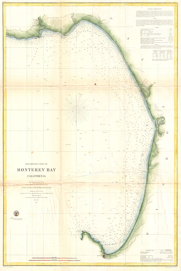 Preliminary Chart of Monterey Bay California. - Main View