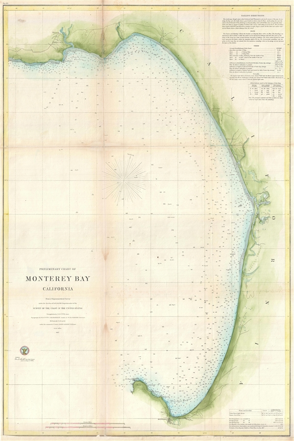 Preliminary Chart of Monterey Bay California.