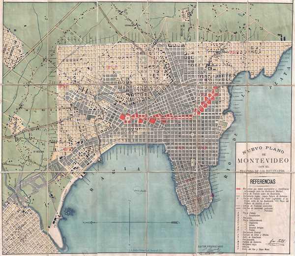 Nuevo Plano de Montevideo con el Trazado de los Boulevards.