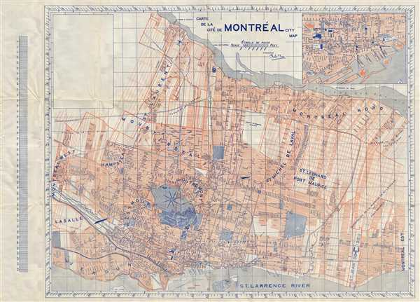 Carte de la Cite de Montreal City Map.