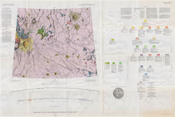 Geologic Map of the Aritarchus Region of the Moon by H. J. Moore. - Main View