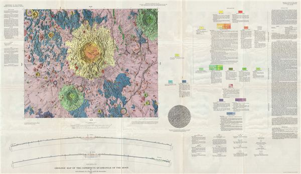 Geologic Map of the Copernicus Quadrangle of the Moon by H. H. Schmitt, N. J. Trask, and E.M. Shoemaker. - Main View