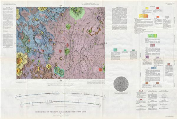 Geologic Map of the Julius Ceasar Quadrangle of the Moon by Elliot C. Morris and Don E. Wilhelms. - Main View