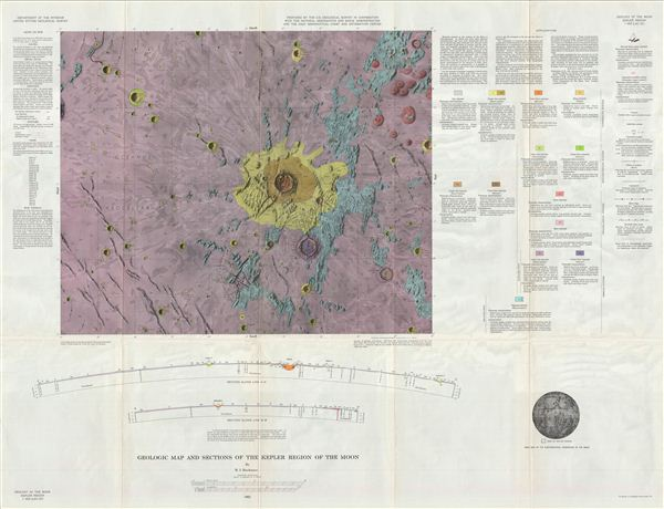 Geologic Map of the Kepler Region of the Moon by R. J. Hackman. - Main View