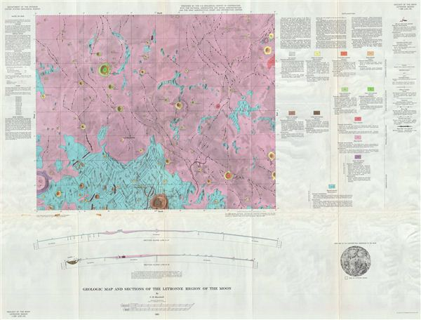 Geologic Map of the Letronne Region of the Moon by C. H. Marshall. - Main View
