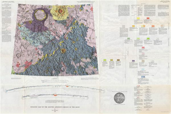 Geologic Map of the Montes Apenninus Region of the Moon by R. J. Hackman.