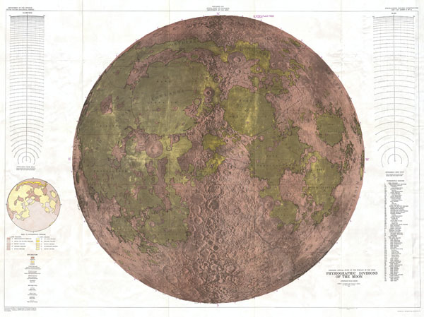 Engineer Special Study of the Surface of the Moon, Physiographic Divisions of the Moon. - Main View