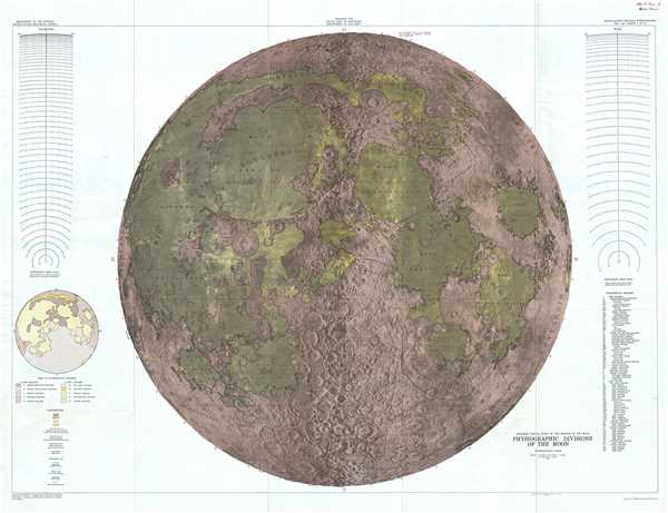 Engineer Special Study of the Surface of the Moon, Physiographic Divisions of the Moon.