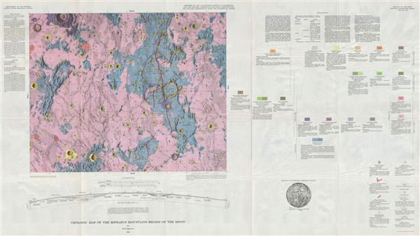 Geologic Map of the Riphaeus Mountains Region of the Moon by R. E. Eggleton. - Main View