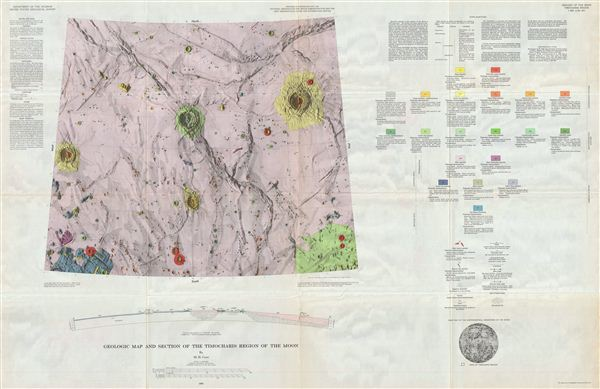 Geologic Map of the Timocharis Region of the Moon by M. H. Carr.