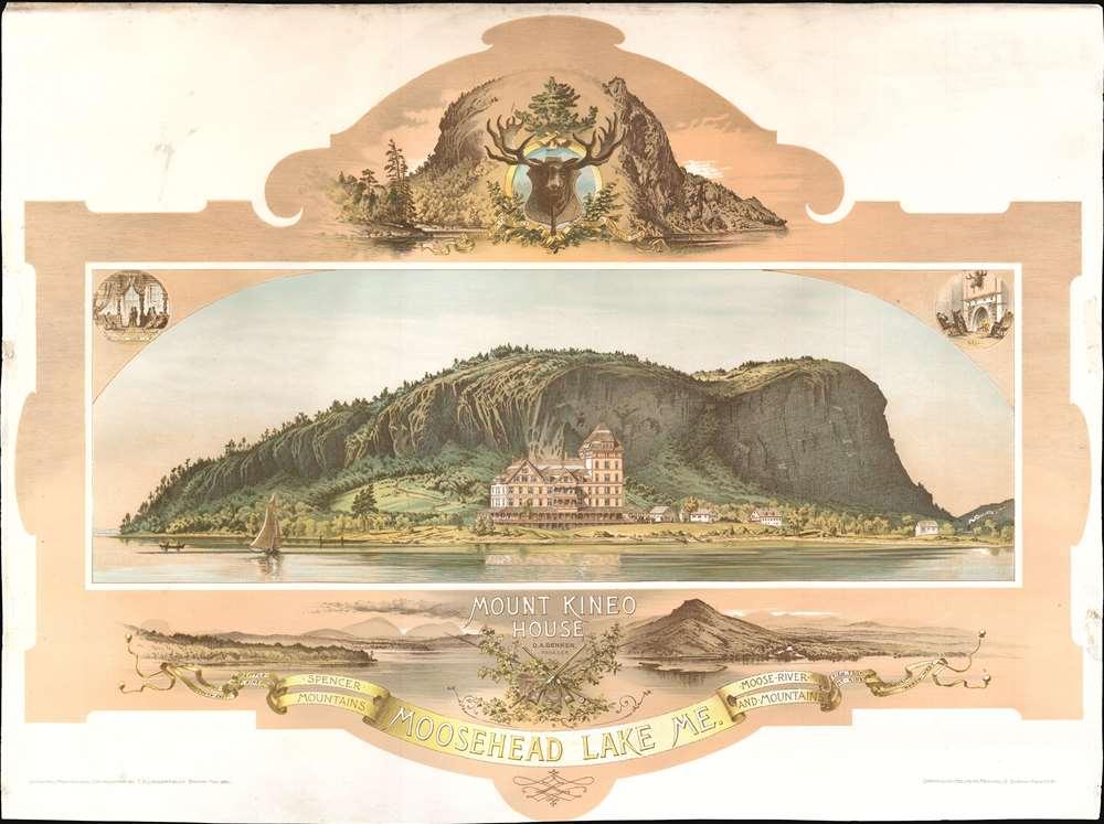 Mount Kineo House.  Moosehead Lake Me. - Main View