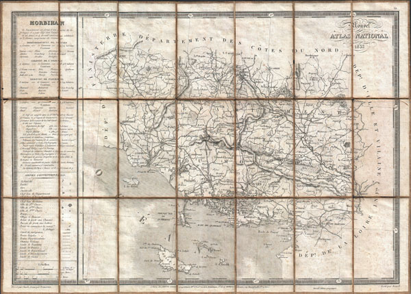 Morbihan / Nouvel Atlas National 1833.