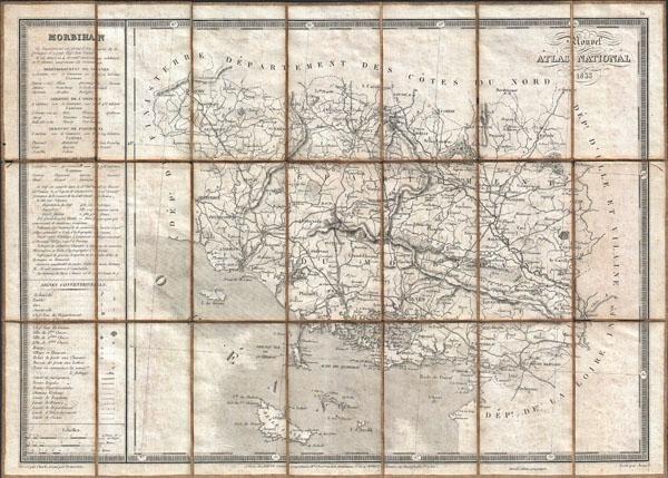 Morbihan / Nouvel Atlas National 1833. - Main View