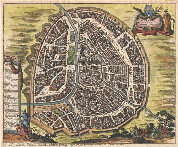 Moscou Capitale de la Moscovie Suivant Olearius.