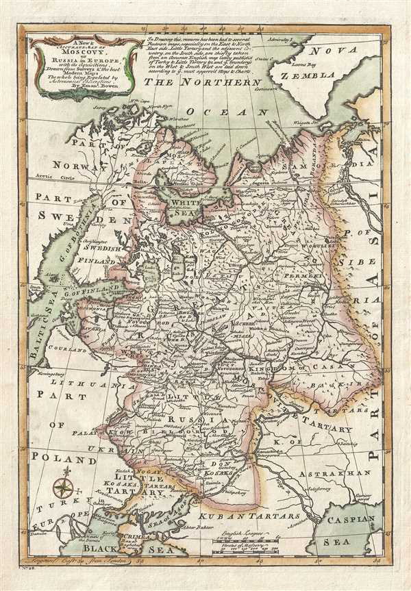 A New and Accurate Map of Moscovy or Russia in Europe – Europe Map Russia