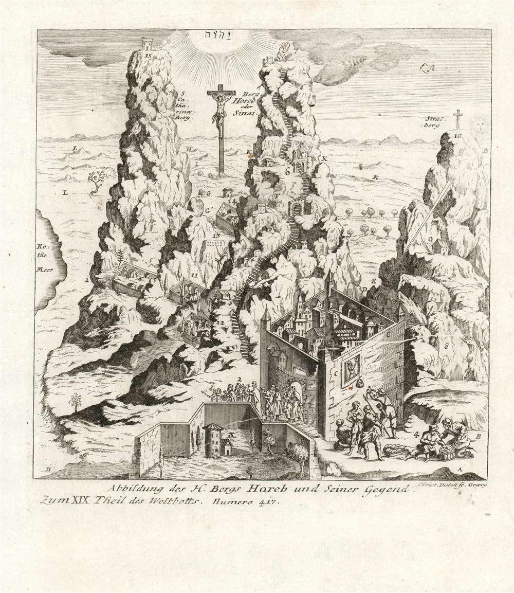 Abbildung Des H. Bergs Horeb und Seiner Gegend. - Main View