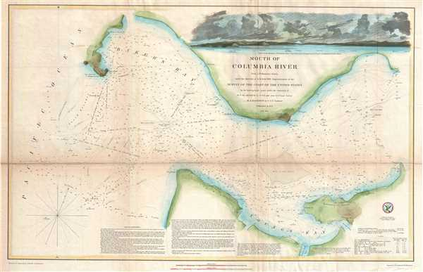 Mouth Of Columbia River Geographicus Rare Antique Maps - Columbia-river-map-us
