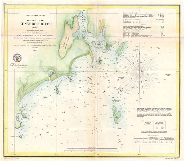 Preliminary Chart of the Mouth of Kennebec River Maine.