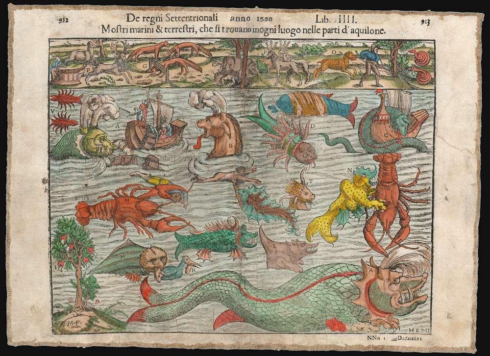 Mostri marini e terrestri, che si trouano in ogni luogo nelle parti d'aquilone. - Main View