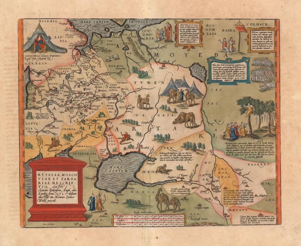 Russiae, Moscoviae et Tartariae Descriptio. Auctore Antonio Ienkensono Anglo, edita Londini Anno. 1562 et dedicata illustriss: D. Henrico Sÿdneo Wallie presidi. - Main View
