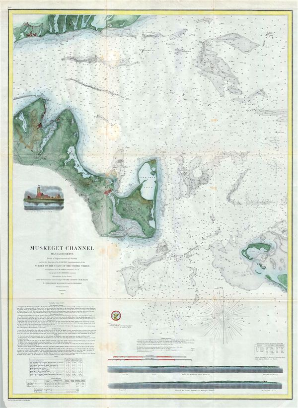 (A No. 5) Preliminary Chart of Muskeget Channel Massachusetts.