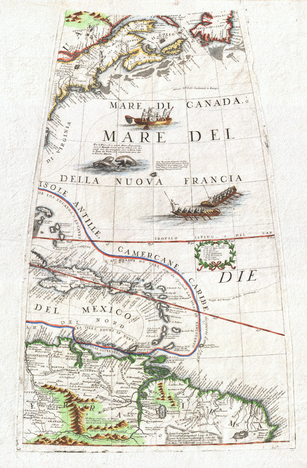 New England, the West Indies, Northeastern South America (Unitled Globe Gore). - Main View